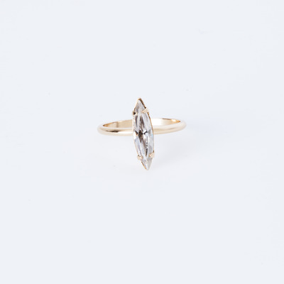 Bing Bang Crystal Shard Ring Gold Plated
