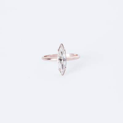Bing Bang Crystal Shard Ring Rose Gold Plated