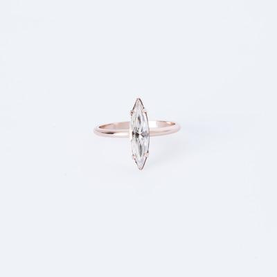 Bing Bang Crystal Shard Ring Rose Gold Plated