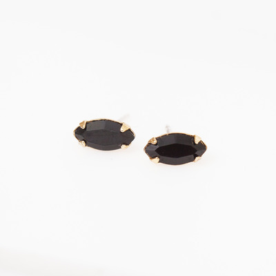 Bing Bang Tiny Jet/Gold Marquis Studs