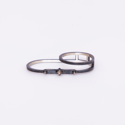Maria Black Black Double Harper Ring