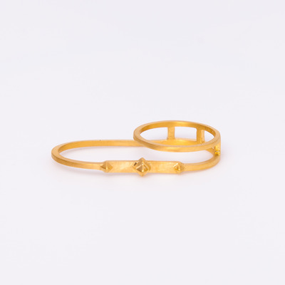 Maria Black Gold Double Harper Ring
