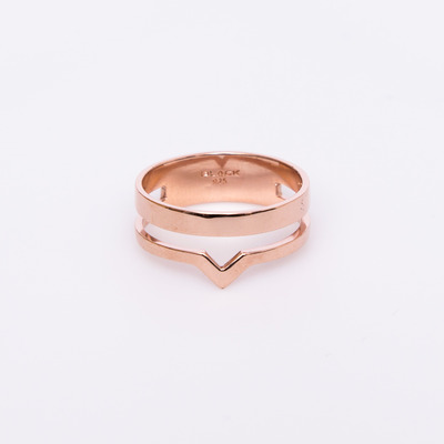 Maria Black Rose Gold Detour Ring