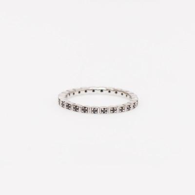 Anna Sheffield Black Diamond Pavé Wheat Memory Ring