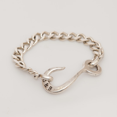 Giles & Brother Sterling Silver Hook I.D. Chain Bracelet