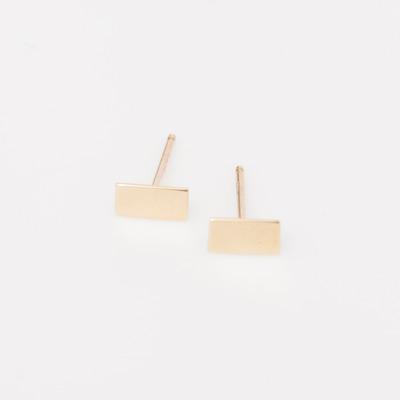 Vale 14K Gold Flat Bar Earrings