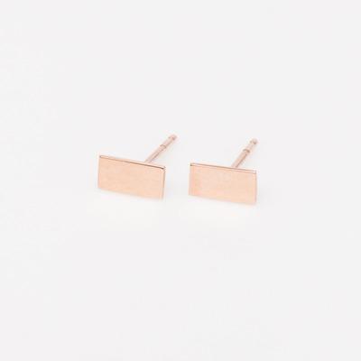 Vale 14K Rose Gold Flat Bar Earrings