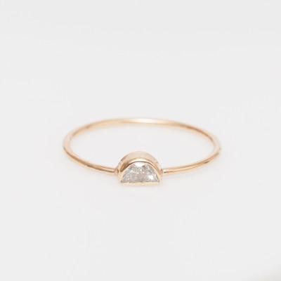 Vale Half Moon Diamond Ring