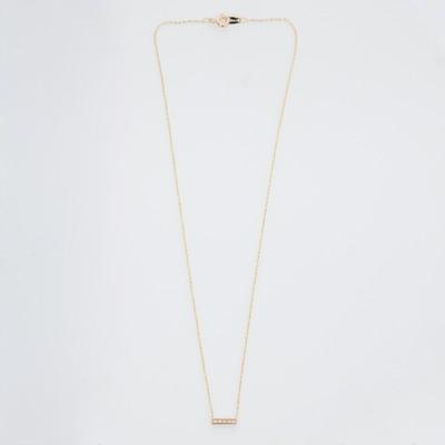 Vale 14K Yellow Gold 5 Diamond Tiny Pavé Bar Necklace