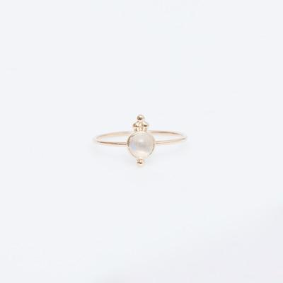 J. Hannah 14K Luna Moonstone Ring