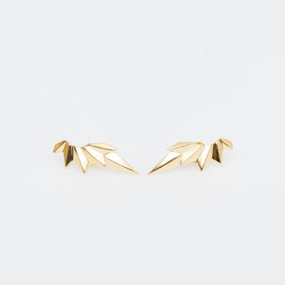 Maria Black High Polish Gold Wing Earring
