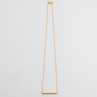 Maria Black Gold Short Tube Necklace