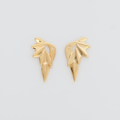 Maria Black High Polish Gold Reverse Wing Stud Earrings