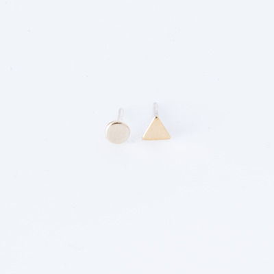 Bing Bang Tiny Geometry Duet Earrings