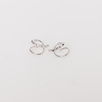 Maria Black Sterling Silver Klaxon Twirl Earring