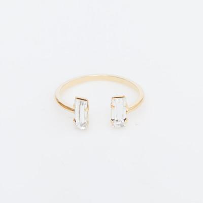 Bing Bang Gold Double Baguette Ring