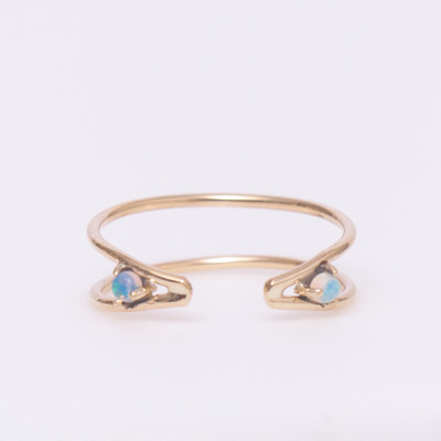 WWAKE 10K Wrapped Opal Ring