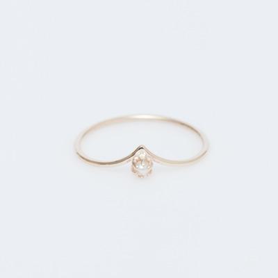 Sarah & Sebastian 9K Pearled Drop Ring