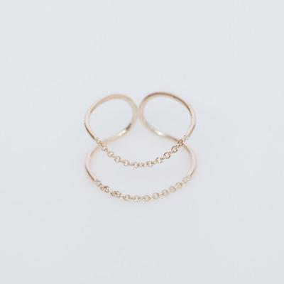 Sarah & Sebastian 9K Chain Ellipse Ring