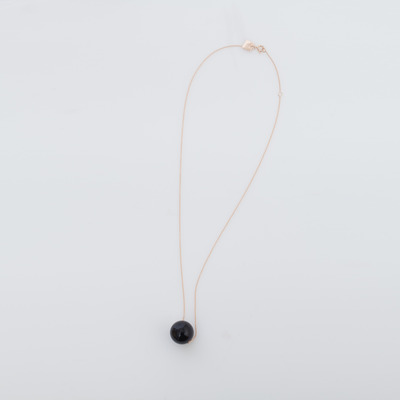 Ginette NY 18K Black Moon Onyx Necklace