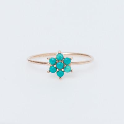 Ginette NY 18K Fallen Sky Turquoise Star Ring