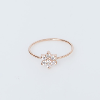 Ginette NY 18K Single Diamond Star Ring