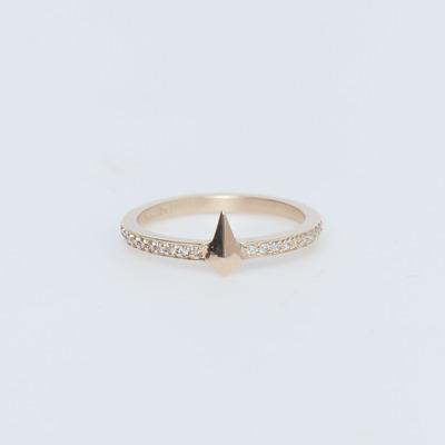 Meadowlark 9K Gold/White Diamond Pointed Eternity Ring