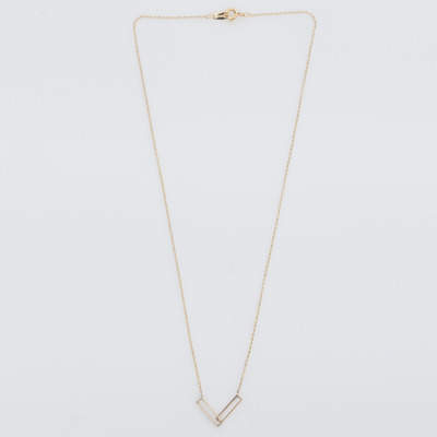 Vale 14K Gold Interlocking Rectangle Necklace