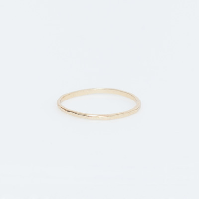 Bing Bang Gold Vermeil Round Hammered Band