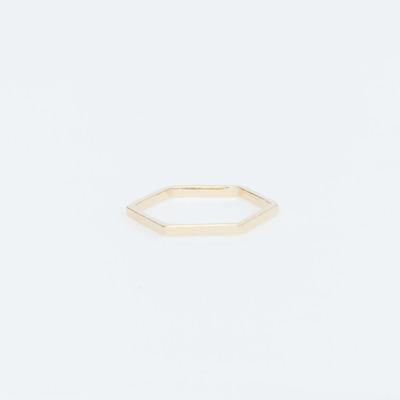 Bing Bang Gold Vermeil Thin Hex Ring