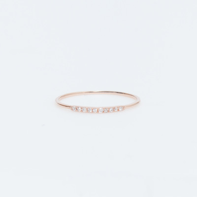 Gabriela Artigas 14K Rose Gold/White Diamond Mini Axis Ring