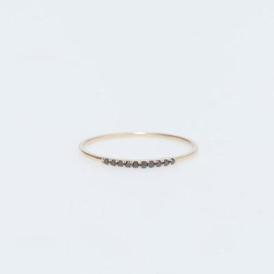 Gabriela Artigas 14K Gold/Black Diamond Mini Axis Ring