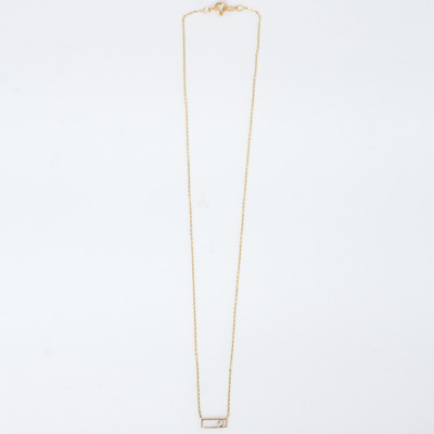 Vale 14K Gold Rectangle with Diamond Necklace