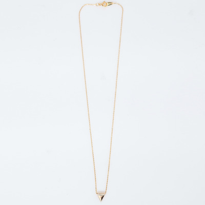 Vale 14K Gold Chain-Thru Triangle Necklace