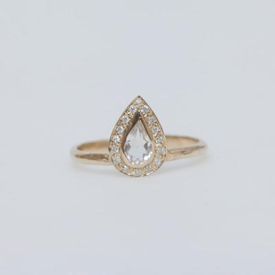 Misa 14K Gold Feather Tiara Ring