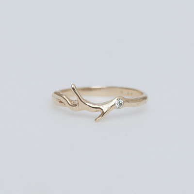 Misa 14K Gold Timber Guard Ring