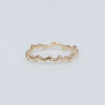 Misa 14K Gold Fire Coral Ring