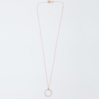 Ginette NY 18K Mini Diamond Circle Necklace