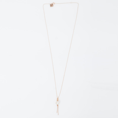 Ginette NY 18K Single Pearl on Chain Necklace