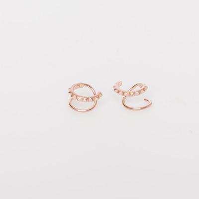 Maria Black Rose Gold Klaxon Twirl Earring