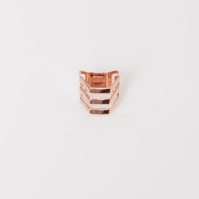 Maria Black Rose Gold Trinity Ring