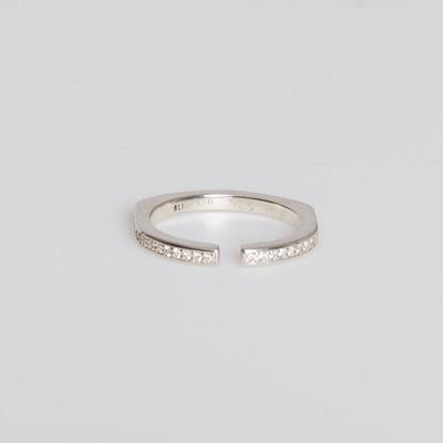 Bliss Lau Sterling Silver/White Diamond Pavé Split Ring