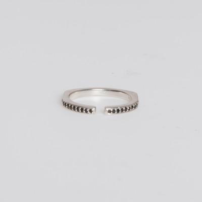 Bliss Lau Sterling Silver/Black Diamond Pavé Split Ring