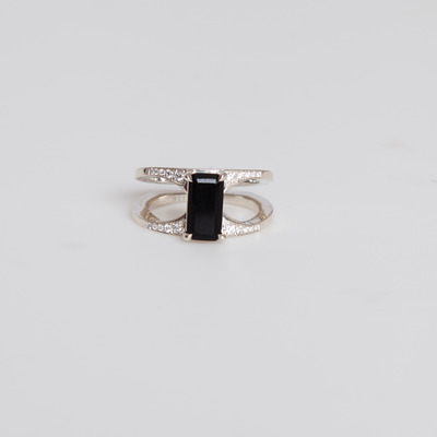 Bliss Lau 14K White Gold Mirage Black Ring