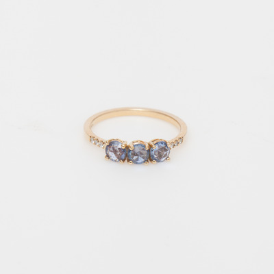 Jennie Kwon Rose Cut Sapphire Equilibrium Cuff Ring