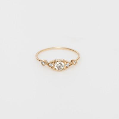 Jennie Kwon Diamond Duo Deco Spear Ring