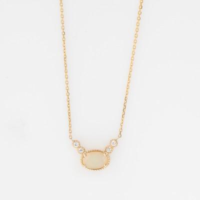 Jennie Kwon Opal & Diamond Dew Necklace