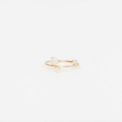 WWAKE Three-Step Opal & Diamond Ring