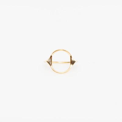 Maria Black Spike Monocle Ring