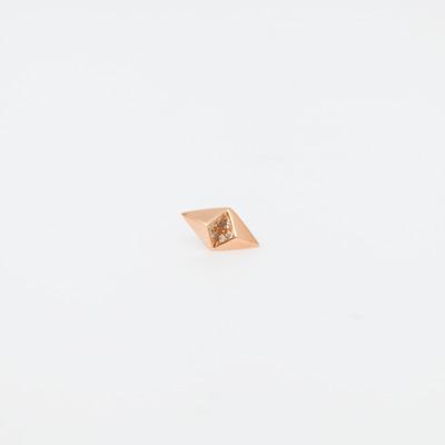 Maria Black Rose Gold Billy Diamond Earring